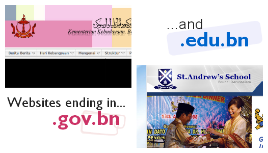 e-darussalam search - gov.bn and edu.bn websites