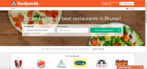 foodpanda Brunei - website - logged in