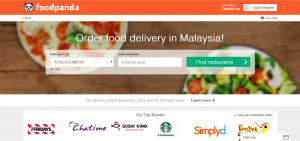 foodpanda - website - Malaysian version