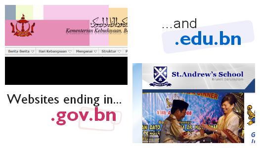 e-darussalam search - gov.bn and edu.bn websites