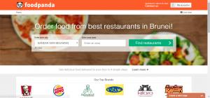foodpanda Brunei - website - logged in