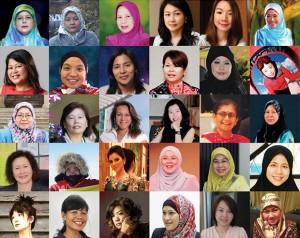 Grid of 50 women in Inspire Magazine's 2014 feature of Top 50 Influential Women