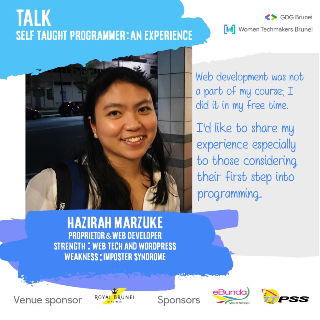 Event graphic showing a photo of me, includes event description
